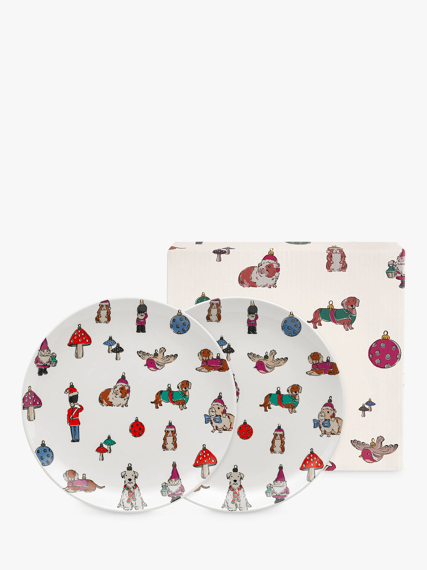 BuyCath Kidston Christmas Novelty Plates, Set of 2, 19cm Online at johnlewis.com
