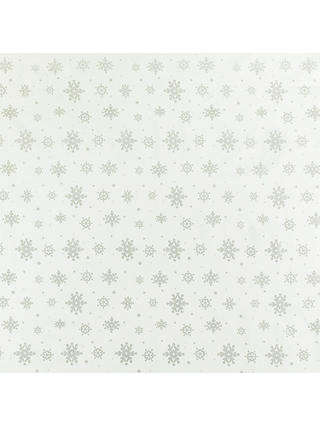 Buy John Lewis & Partners Christmas Snowflakes PVC Tablecloth Fabric, Silver Online at johnlewis.com
