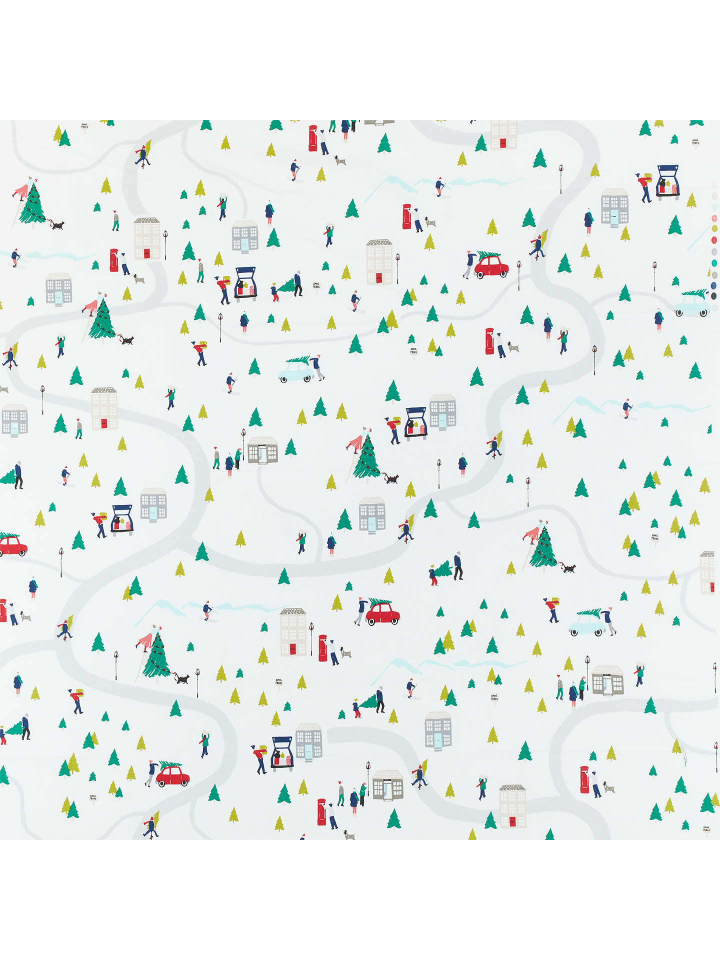 Buy John Lewis & Partners Christmas Map PVC Tablecloth Fabric, Multi Online at johnlewis.com