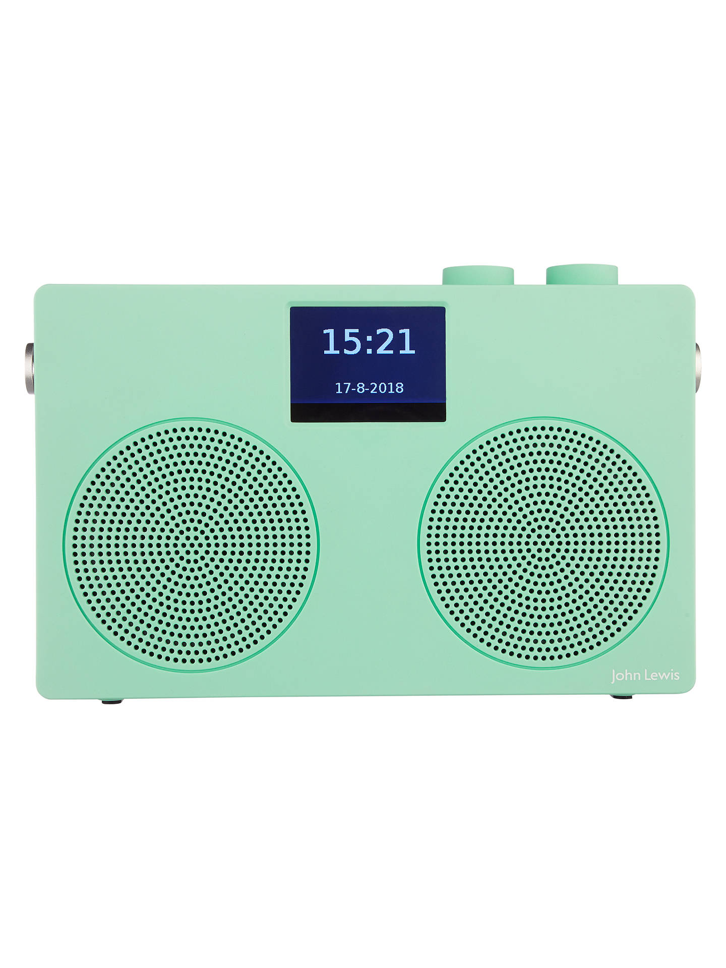 Buy John Lewis & Partners Spectrum Duo II DAB/DAB+/FM Bluetooth NFC Digital Radio, Spearmint Online at johnlewis.com