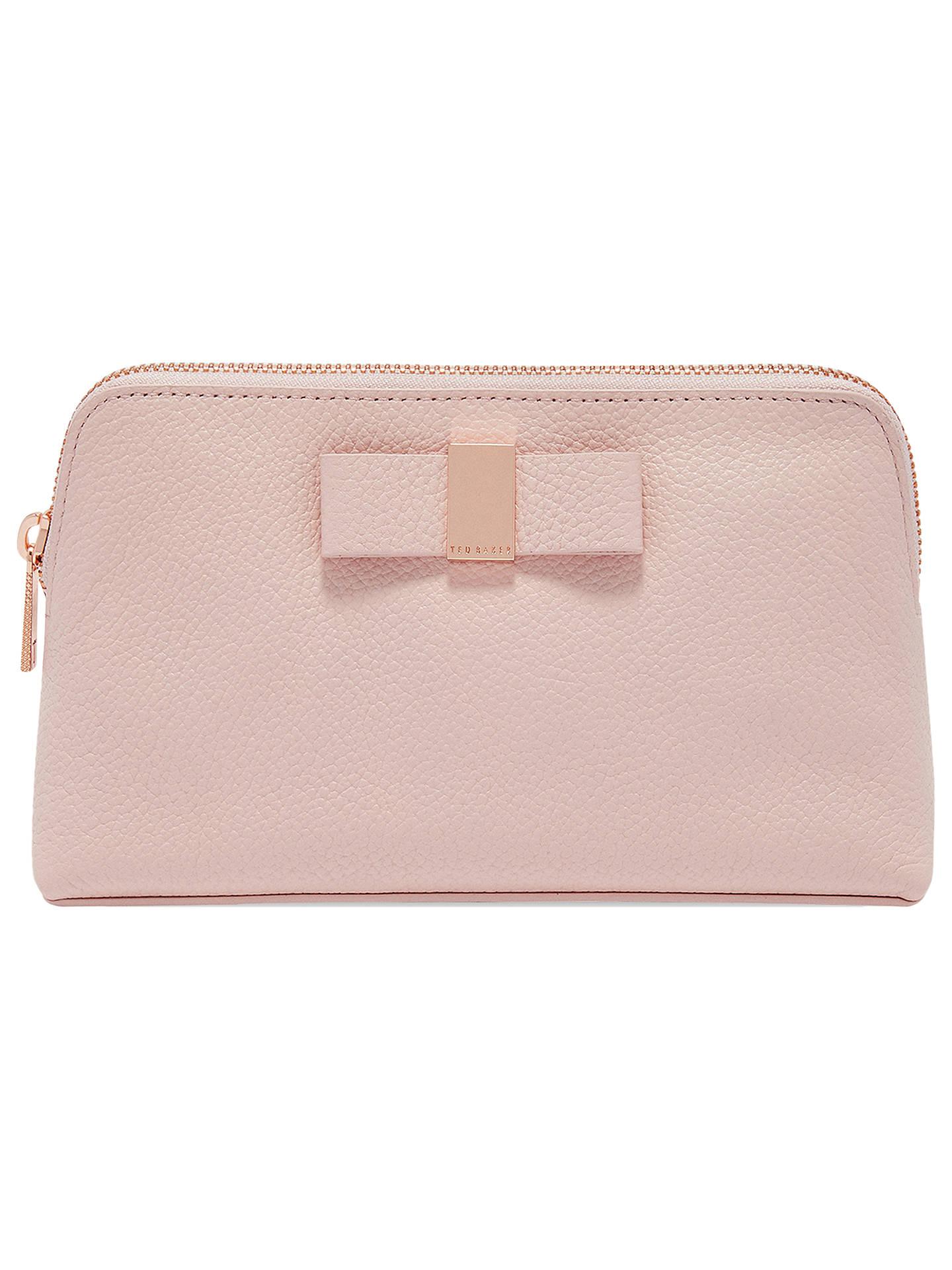 8a9550a771 Buy Ted Baker Dennis Leather Bow Makeup Bag, Light Pink Online at  johnlewis.com ...