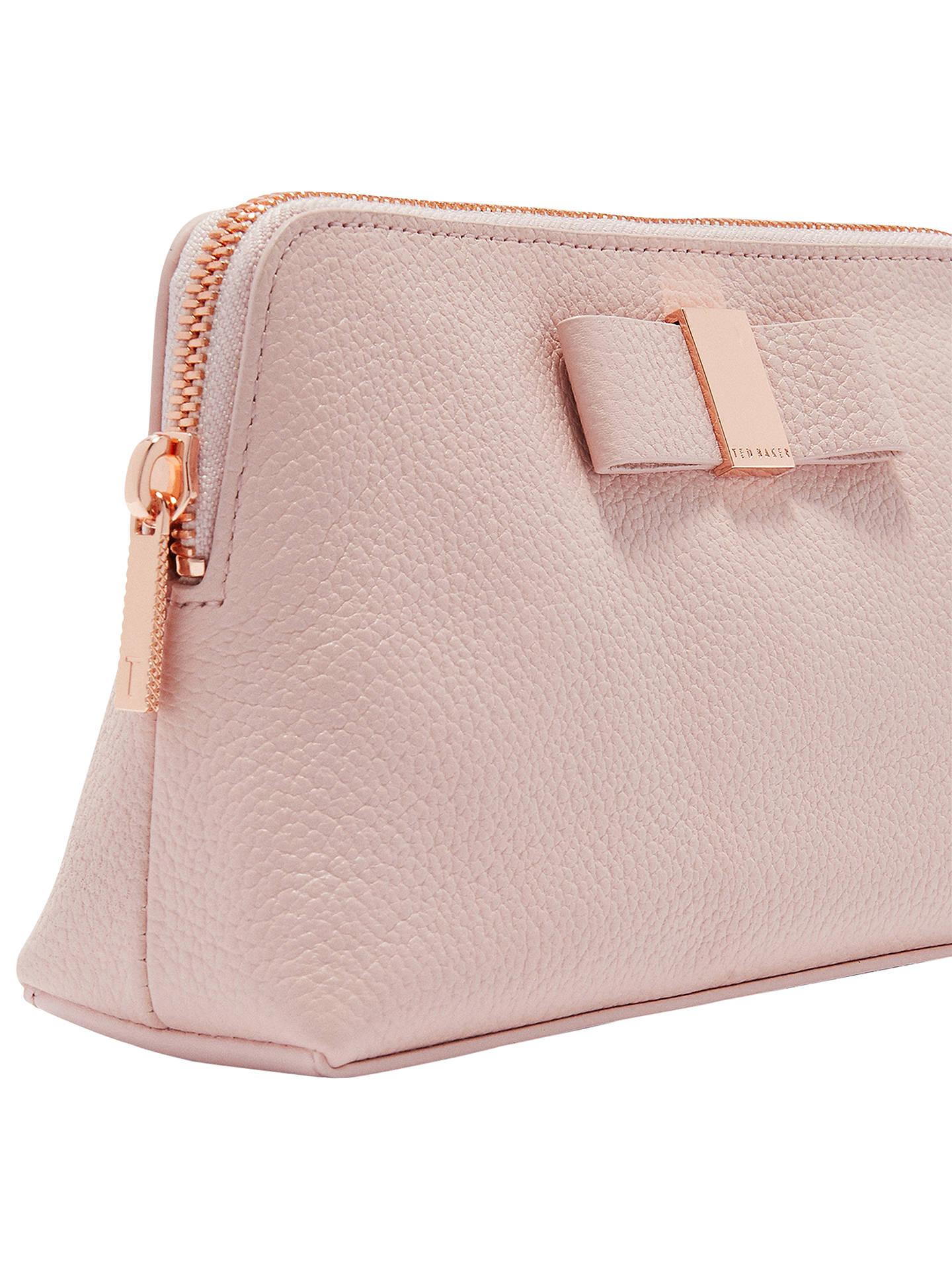 ca1f080d3b ... Buy Ted Baker Dennis Leather Bow Makeup Bag, Light Pink Online at  johnlewis.com