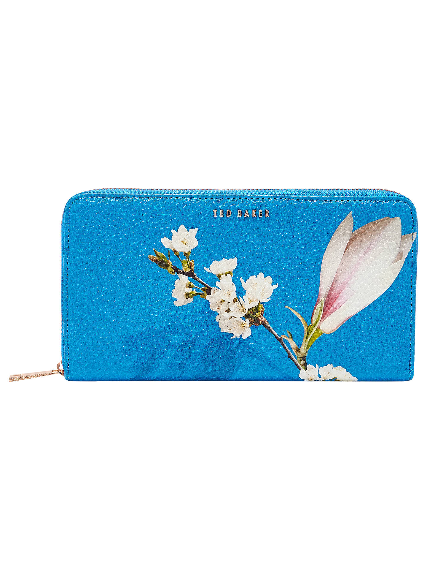 0a09575dbc Buy Ted Baker Darnia Harmony Leather Matinee Purse, Bright Blue Online at  johnlewis.com ...