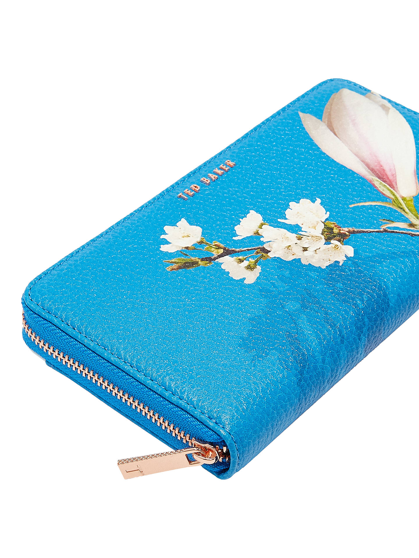 9c513c6c9a ... Buy Ted Baker Darnia Harmony Leather Matinee Purse, Bright Blue Online  at johnlewis.com