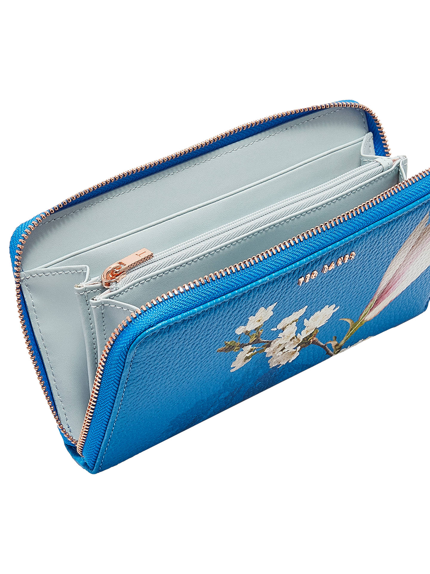 6303d33051 ... Buy Ted Baker Darnia Harmony Leather Matinee Purse, Bright Blue Online  at johnlewis.com ...