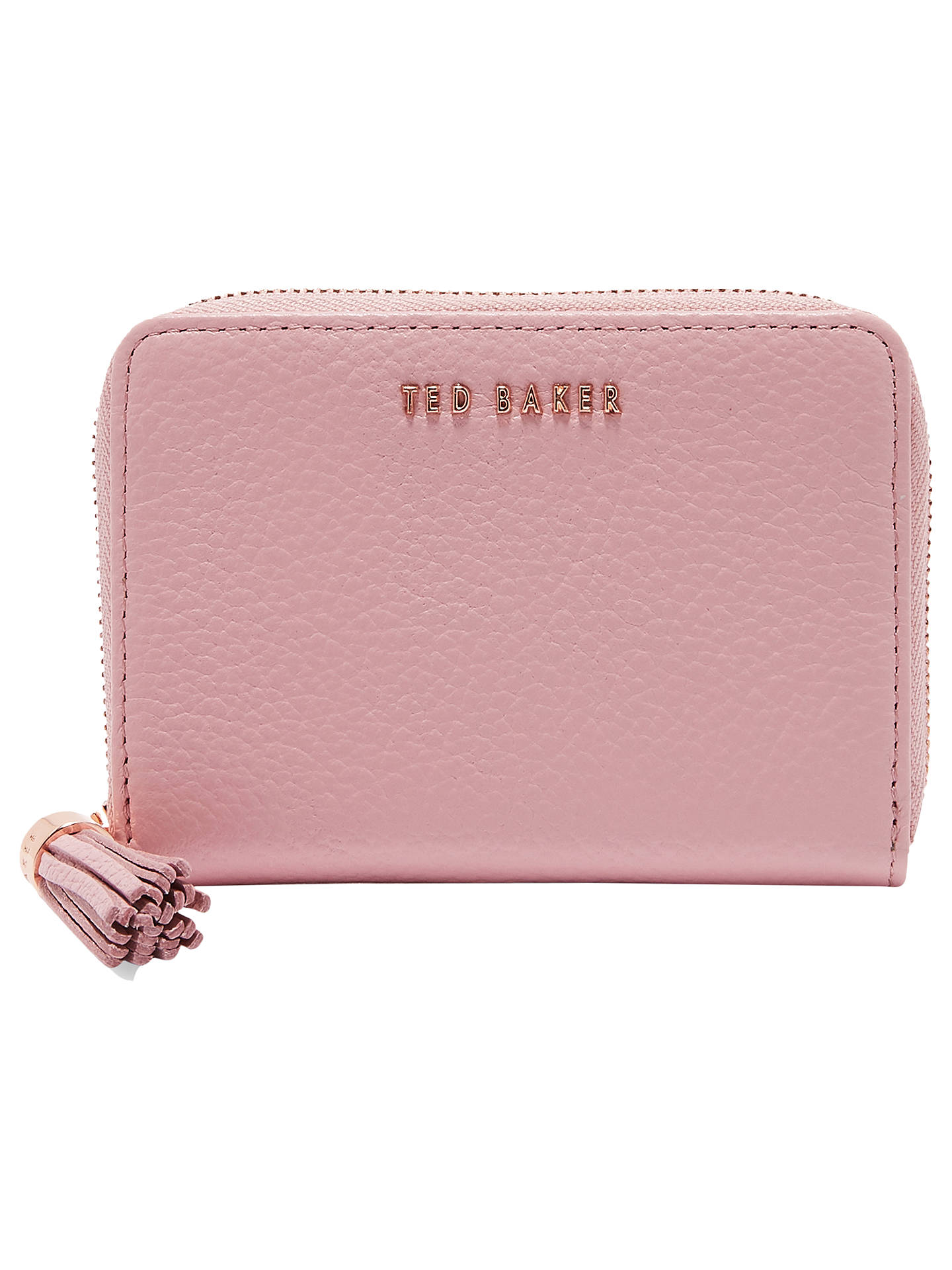 387ee9182 Ted Baker Sabel Small Leather Zip Around Matinee Purse at John Lewis ...