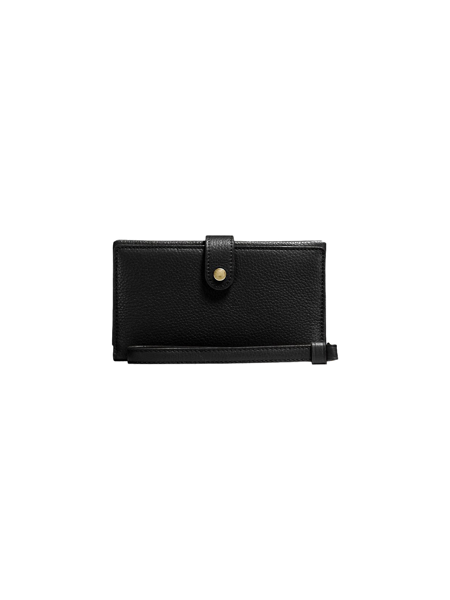 2941c1754162 shopping coach grey handbags purses wallets dillards 49df1 51587  australia  buycoach leather phone wristlet purse jet black online at johnlewis 434ae  8ddd2