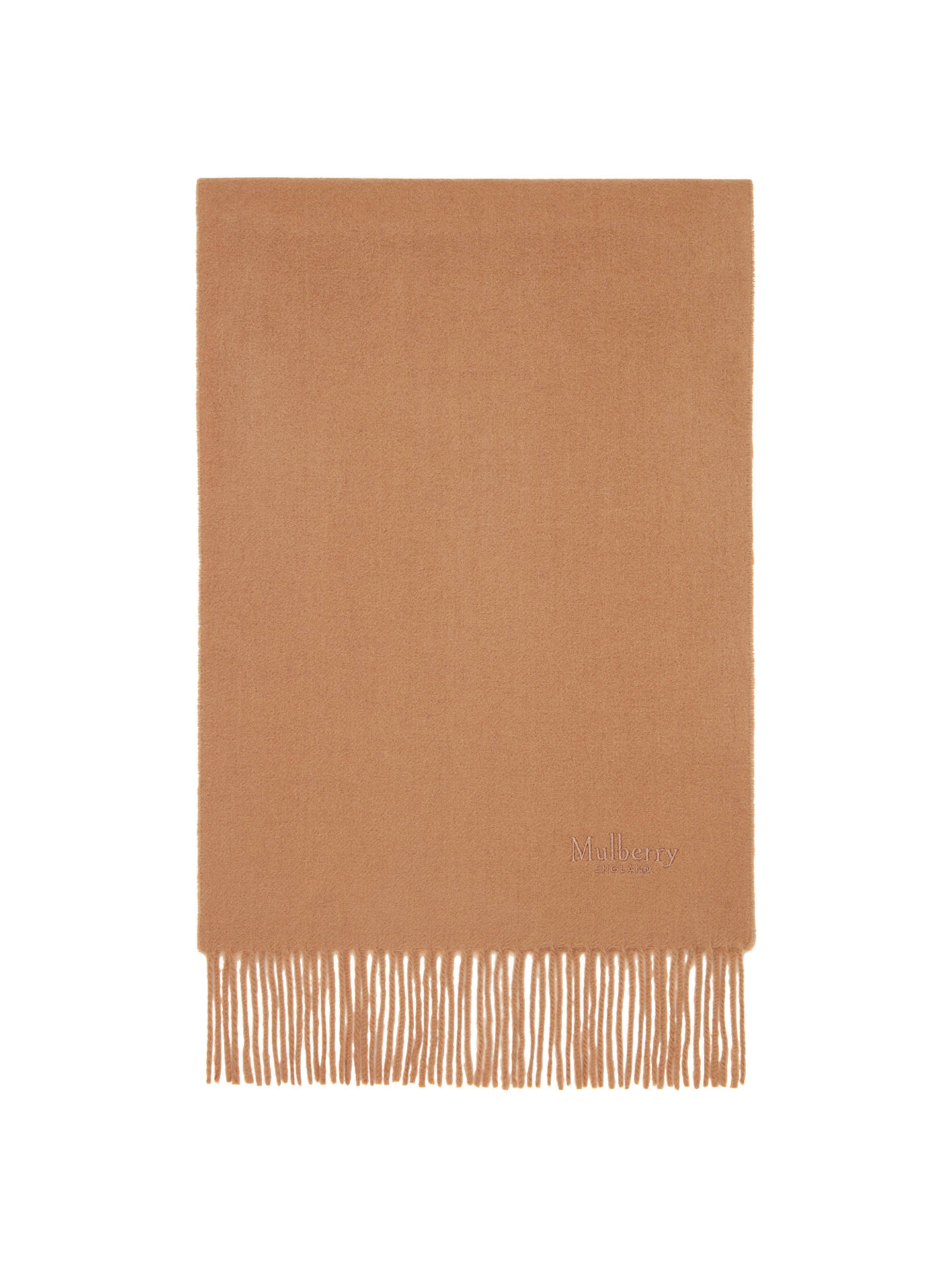 BuyMulberry Pure Lambswool Scarf, Salmon Online at johnlewis.com