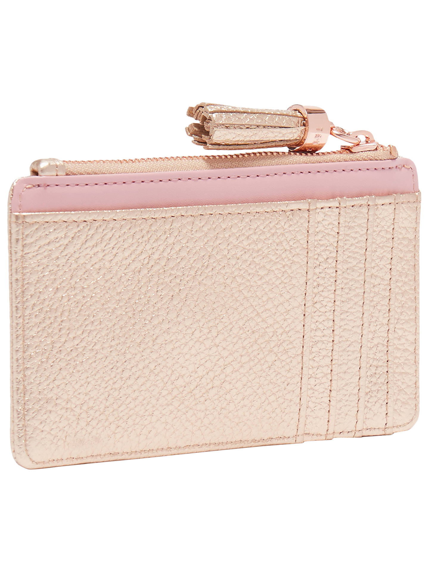 789480e1fb79a2 Ted Baker Sydnee Leather Zipped Card Holder at John Lewis   Partners