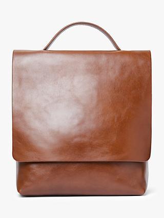 John Lewis Partners Alina Leather Slim Backpack