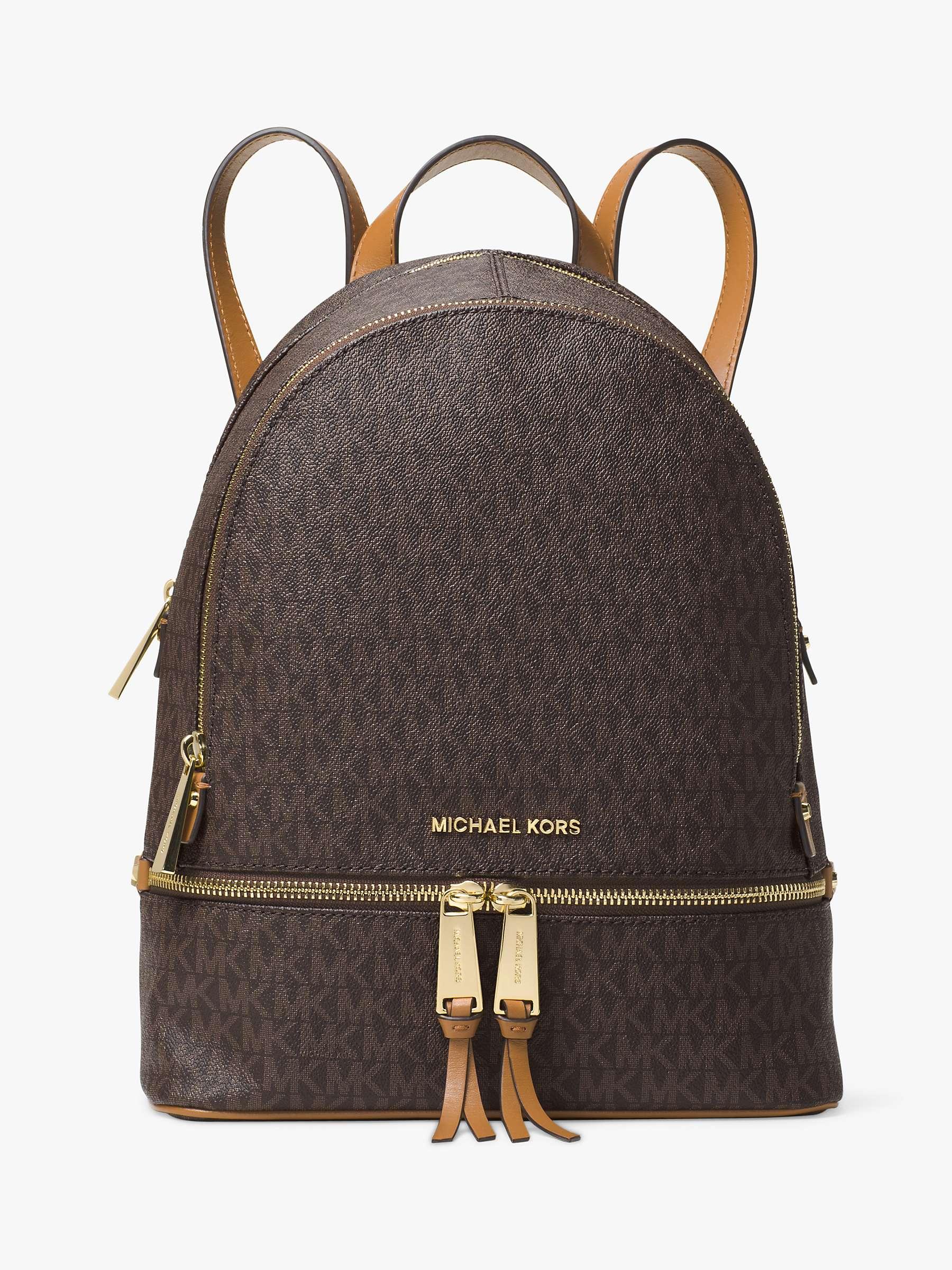 Michael Michael Kors Rhea Logo Backpack, Brown by John Lewis
