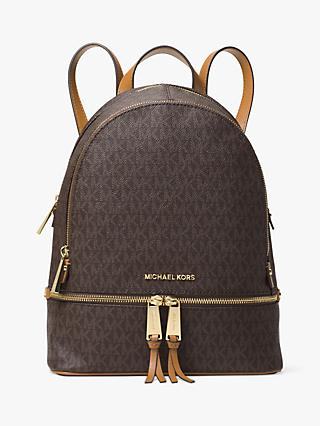 MICHAEL Michael Kors Rhea Logo Backpack, Brown