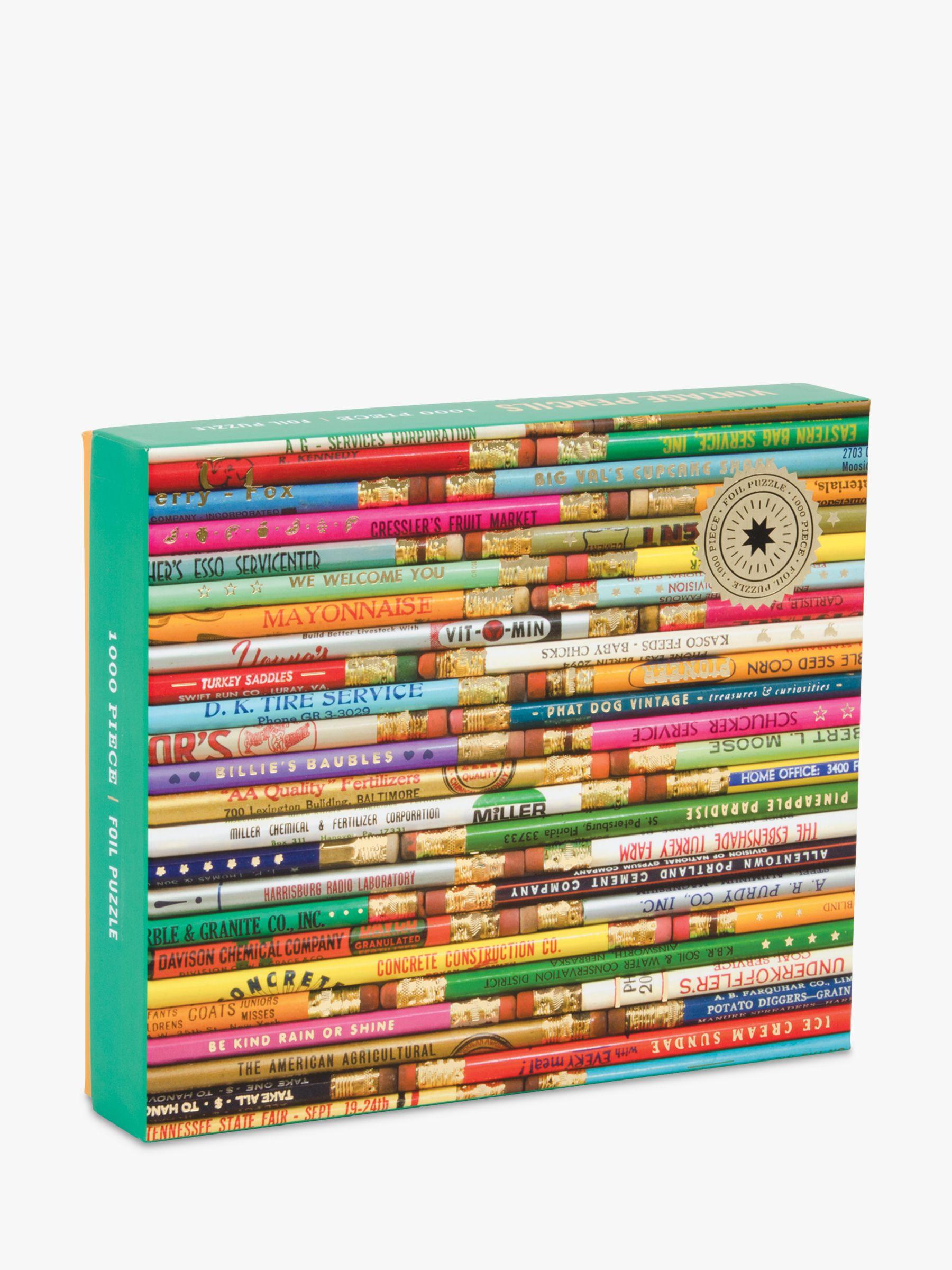 Galison Galison Vintage Pencils Jigsaw Puzzle, 1000 Pieces