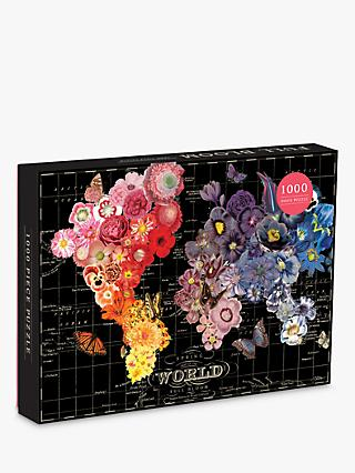 Galison Full Bloom Map Jigsaw Puzzle, 1000 Pieces