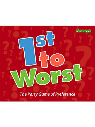 Wildcard Games 1st To Worst Preference Party Game