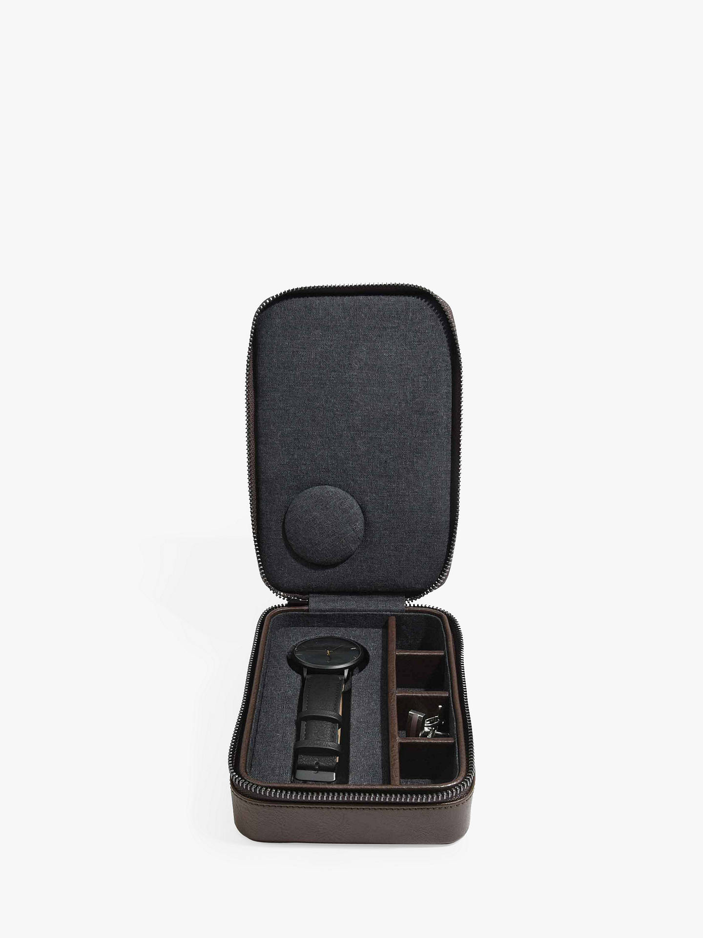 BuyStackers Watch & Cufflink Box, Brown Online at johnlewis.com