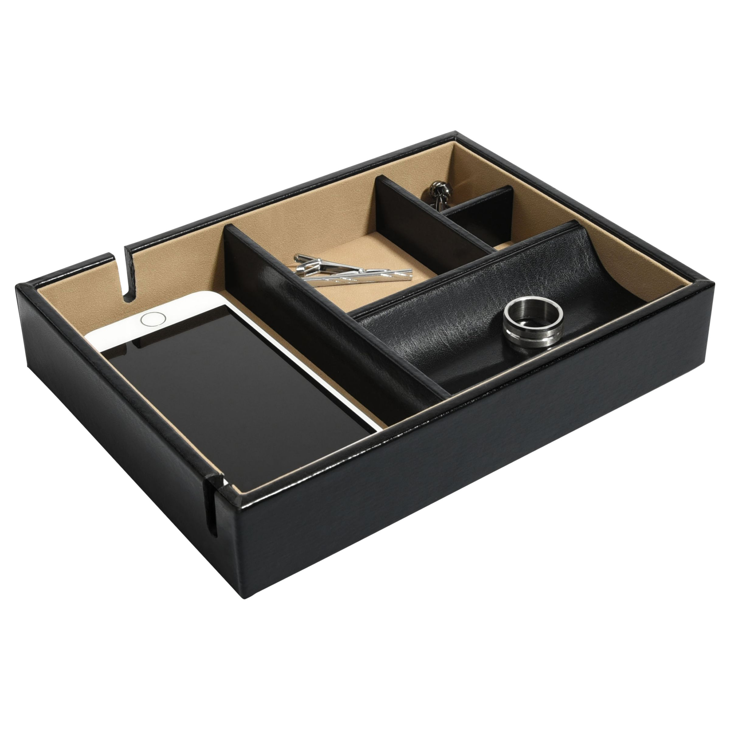 Dulwich Designs Dulwich Designs Windsor Leather Tray, Black