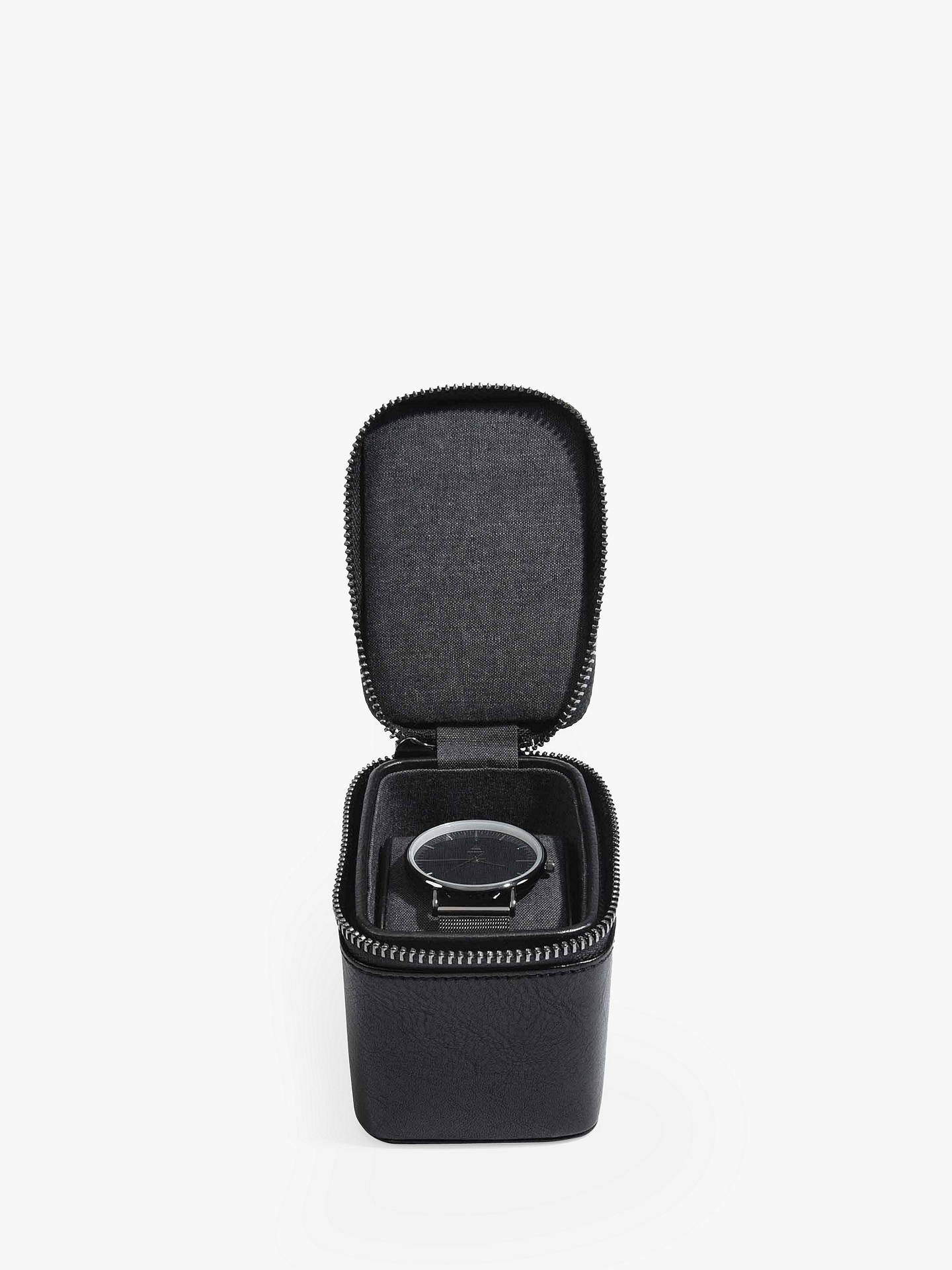 Buy Stackers Single Watch Box, Black Online at johnlewis.com