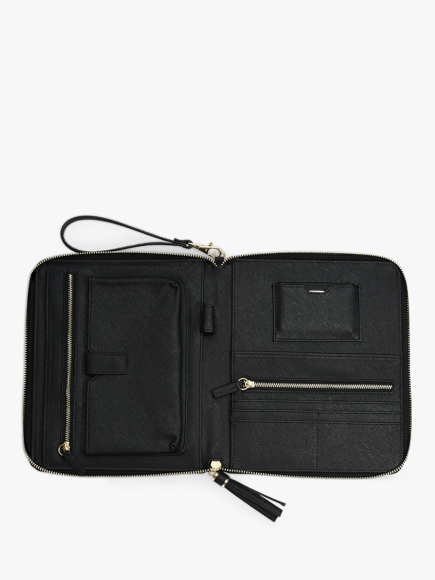 Buy Stackers Tech Clutch Bag, Black Online at johnlewis.com