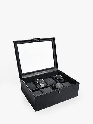 Buy Stackers 8 Piece Glass Watch Box, Black Online at johnlewis.com