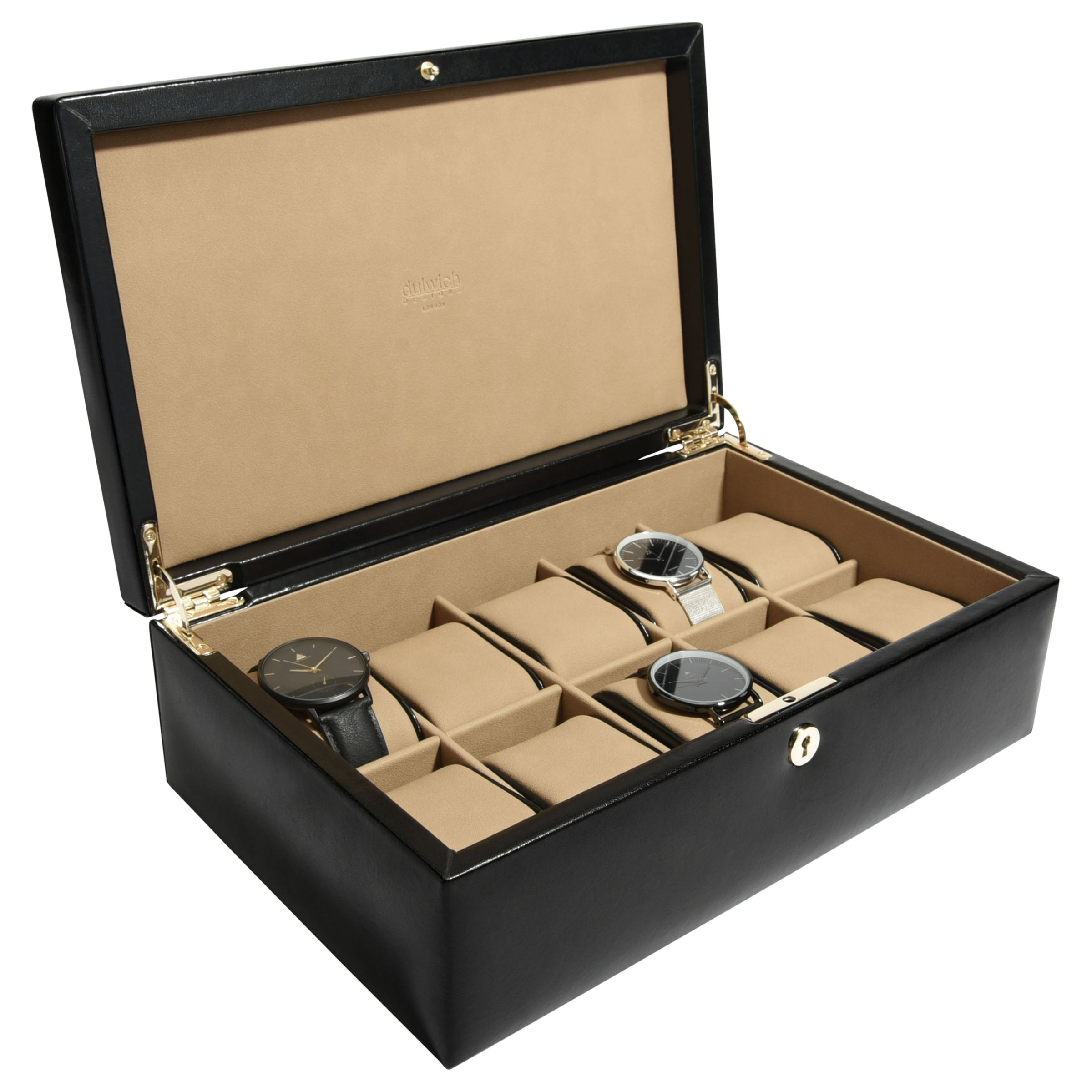 Dulwich Designs Dulwich Designs Windsor Leather 10 Piece Watch Box
