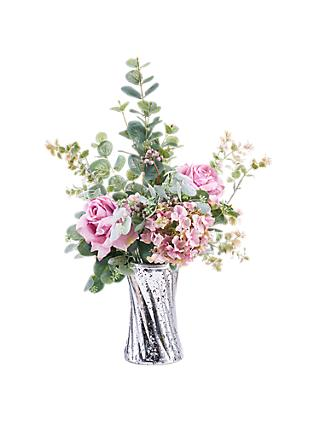Artificial flowers plants silk flowers table centrepieces john peony artificial rose foliage in mirror vase mightylinksfo