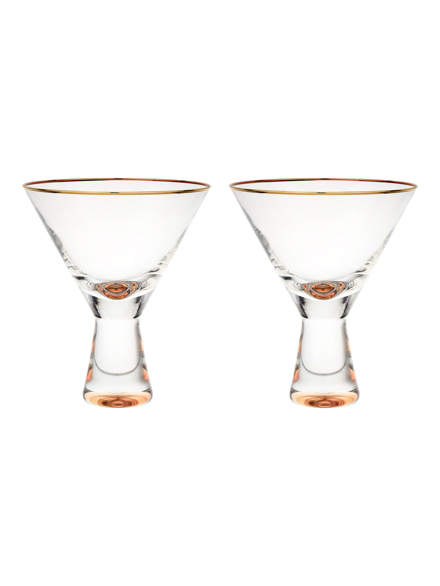 BuyJohn Lewis & Partners Martini Glasses, 150ml, Set of 2, Clear/Gold Online at johnlewis.com