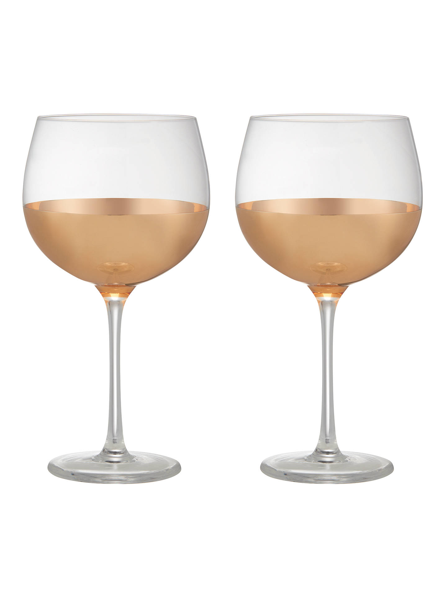 BuyJohn Lewis & Partners Gin Glasses, 550ml, Set of 2, Clear/Gold Online at johnlewis.com