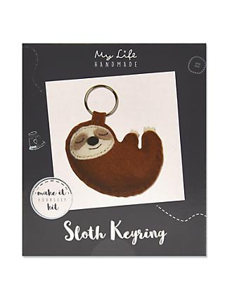 My Life Handmade Sloth Keyring Craft Kit