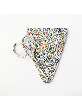 Liberty Floral Print Sewing Scissors and Holder, Mint