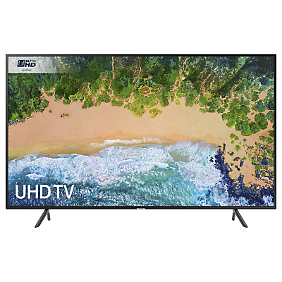 Samsung UE55NU7100 HDR 4K Ultra HD Smart TV, 55 with TVPlus & 360 Design, Ultra HD Certified, Black