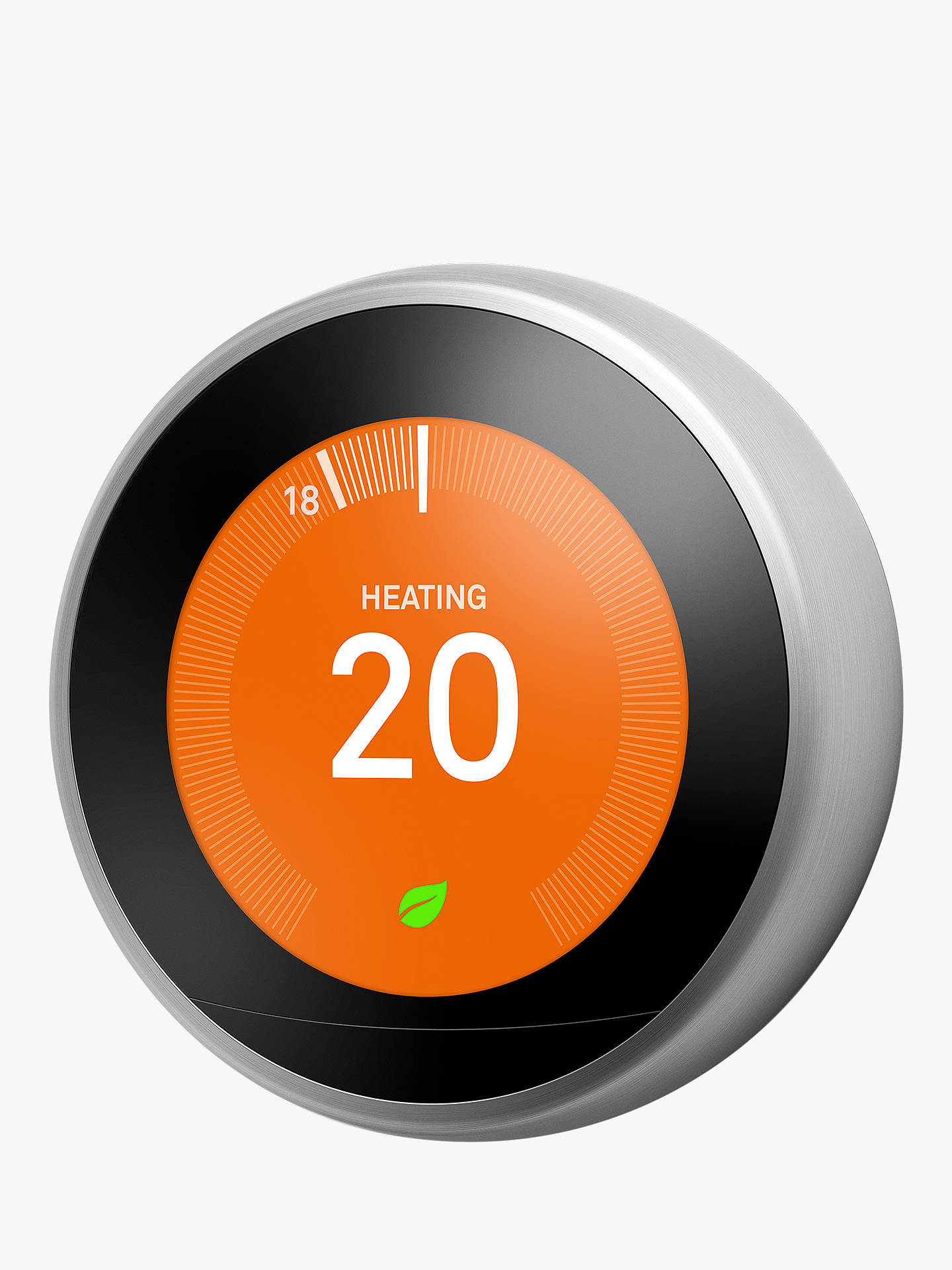 Buy Google Nest Learning Thermostat, 3rd Generation, Stainless Steel Online at johnlewis.com