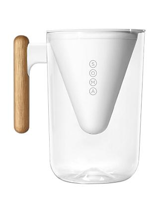 Soma 6 Cup Water Filter Pitcher, White, 1.35L