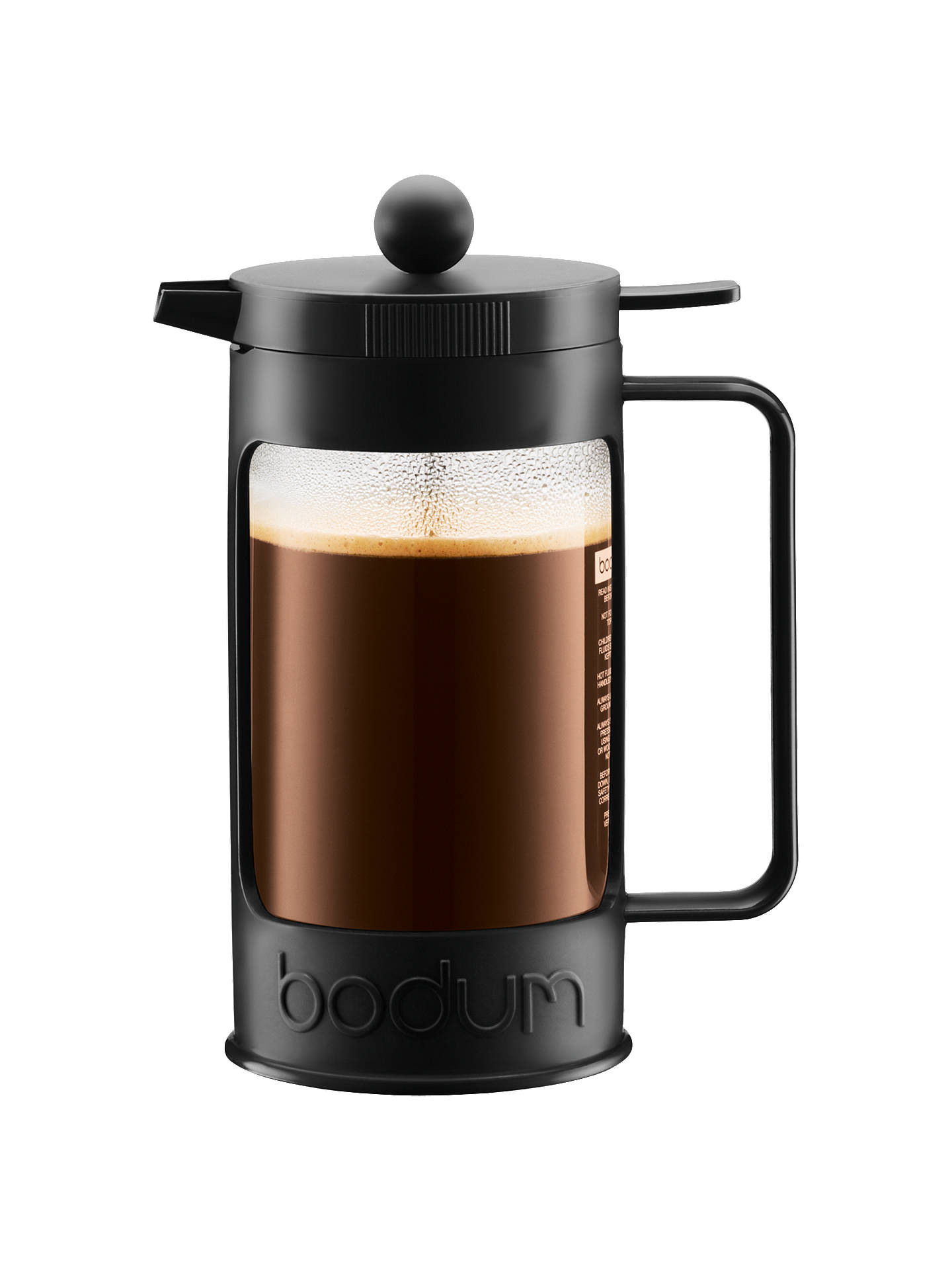 Buy BODUM Bean 4 Cup French Press Coffee Maker, 1L, Black Online at johnlewis.com