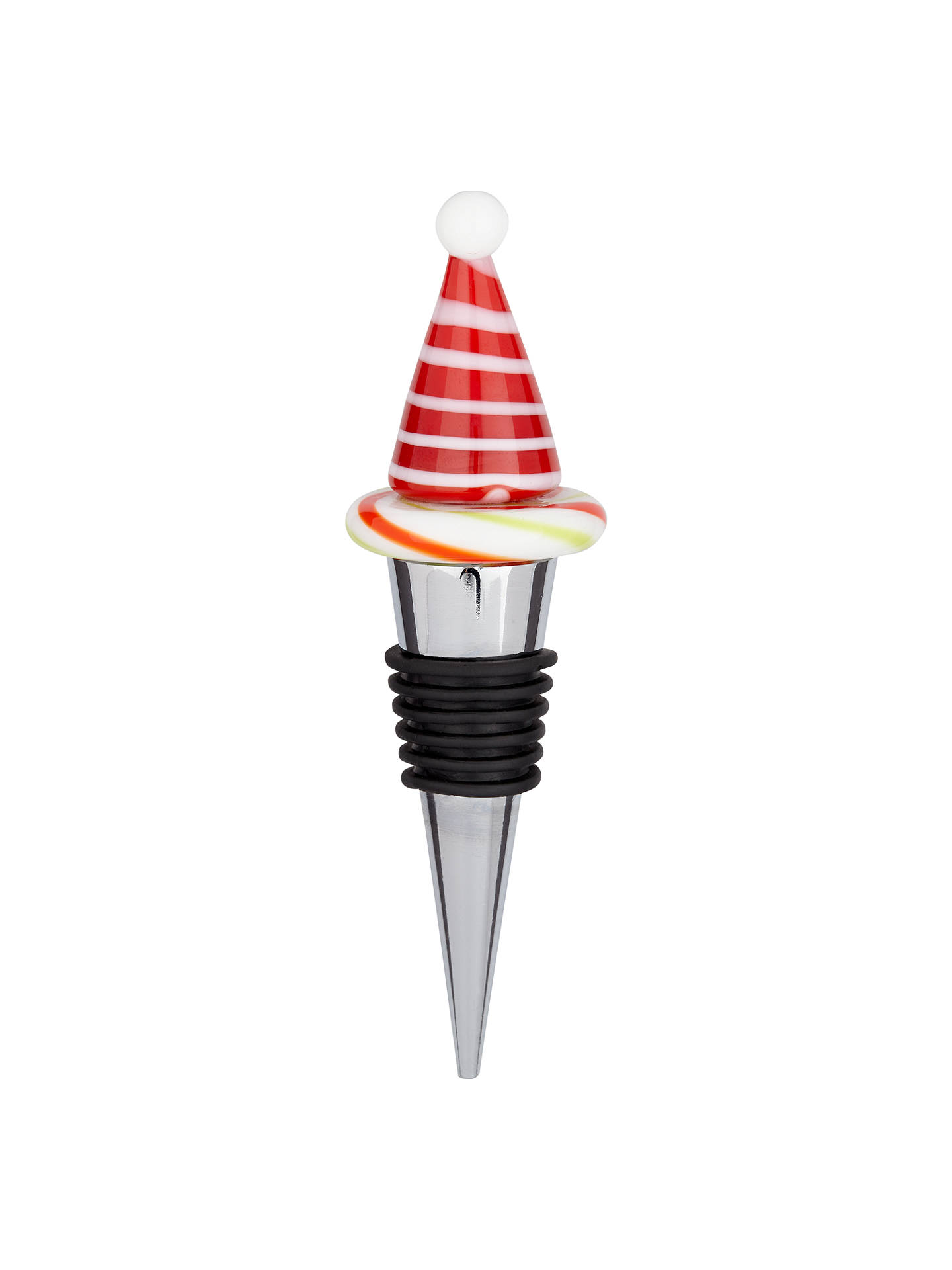 BuyJohn Lewis & Partners Christmas Hat Bottle Stopper Online at johnlewis.com