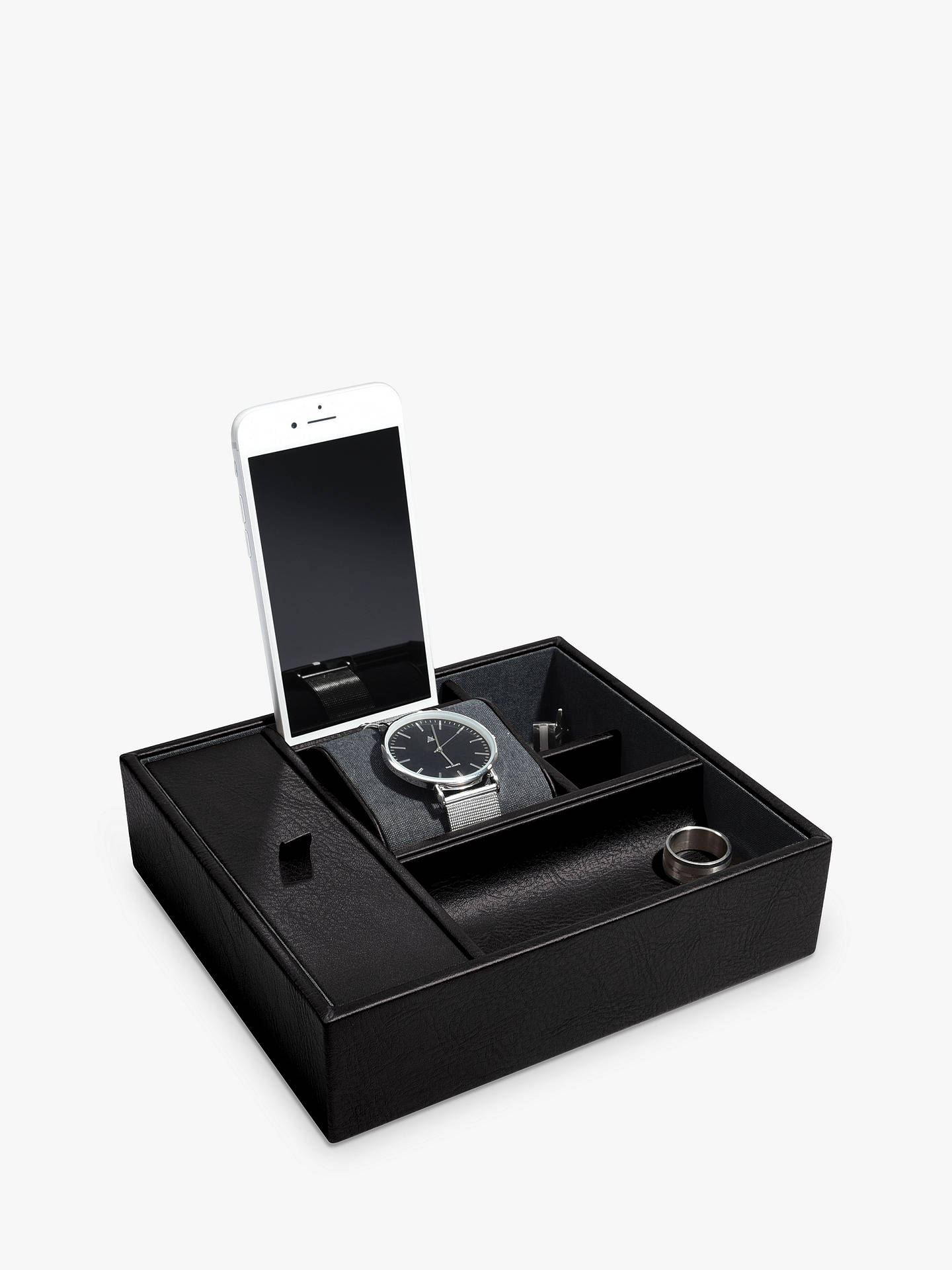 BuyStackers Large Technology and Watch Box, Black Online at johnlewis.com