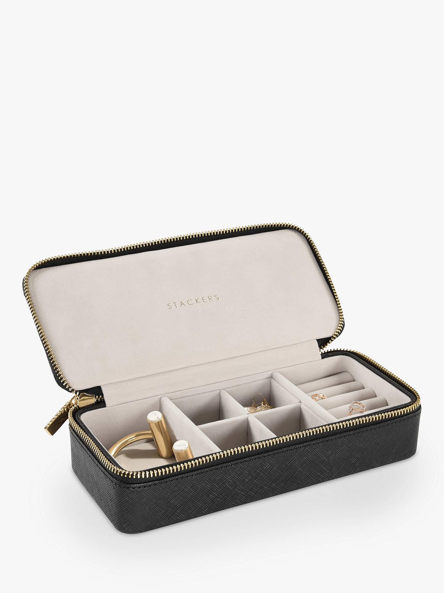 Stackers Weekend Travel Jewellery Box Black