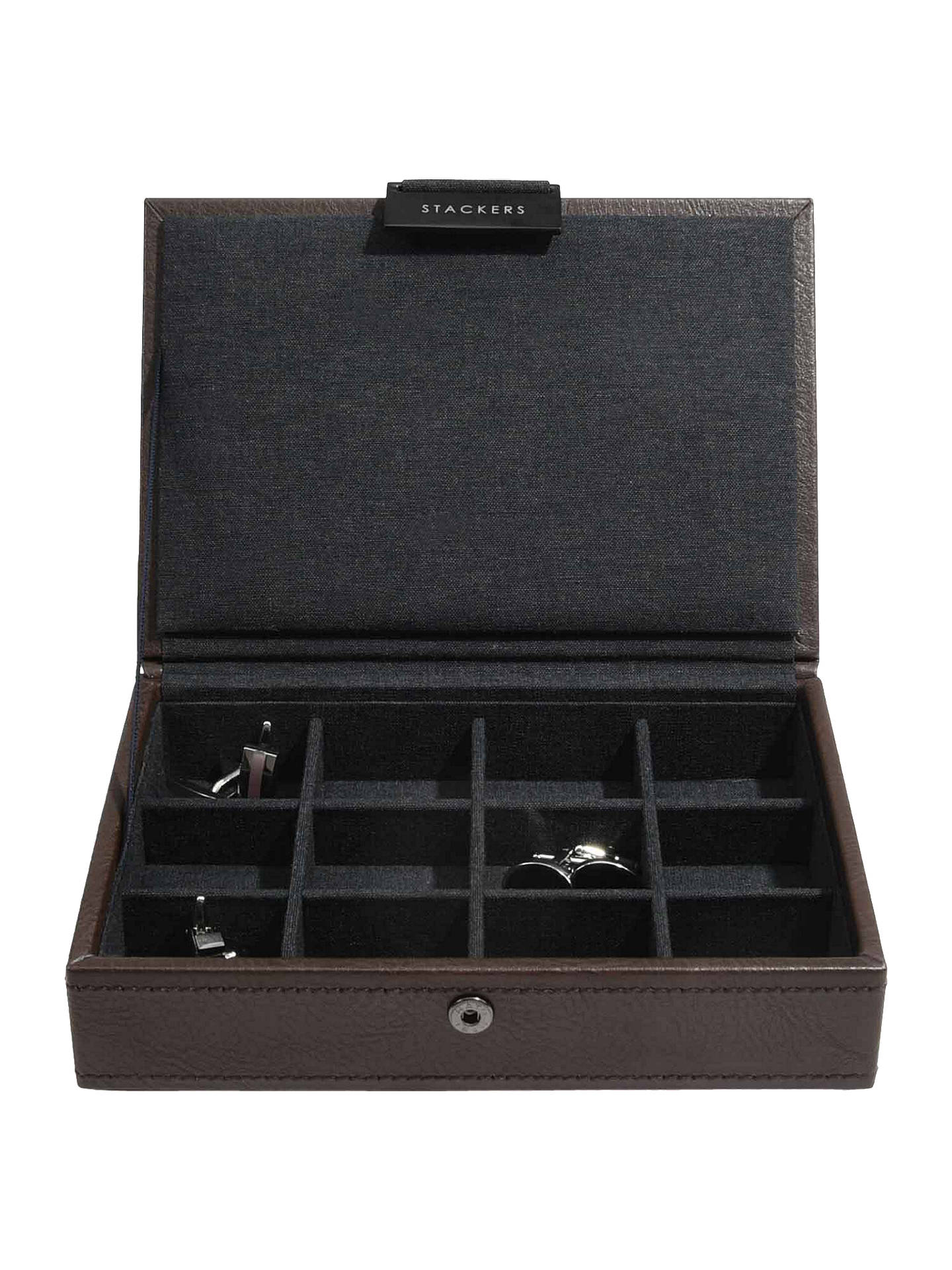 Buy Stackers Lidded Cufflink Box, Brown Online at johnlewis.com