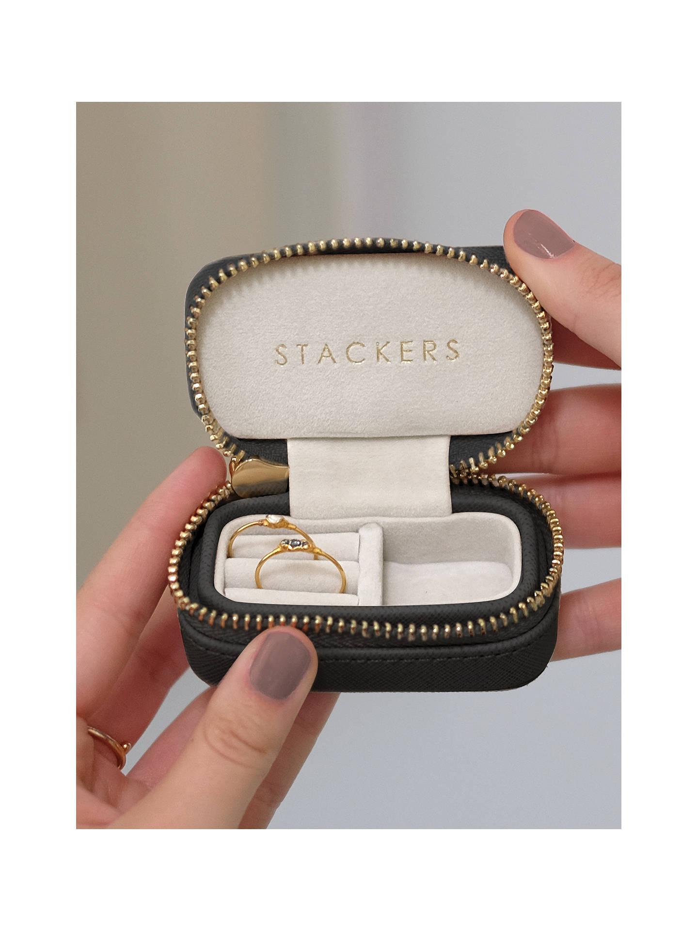 Stackers Petite Travel Jewellery Box Black