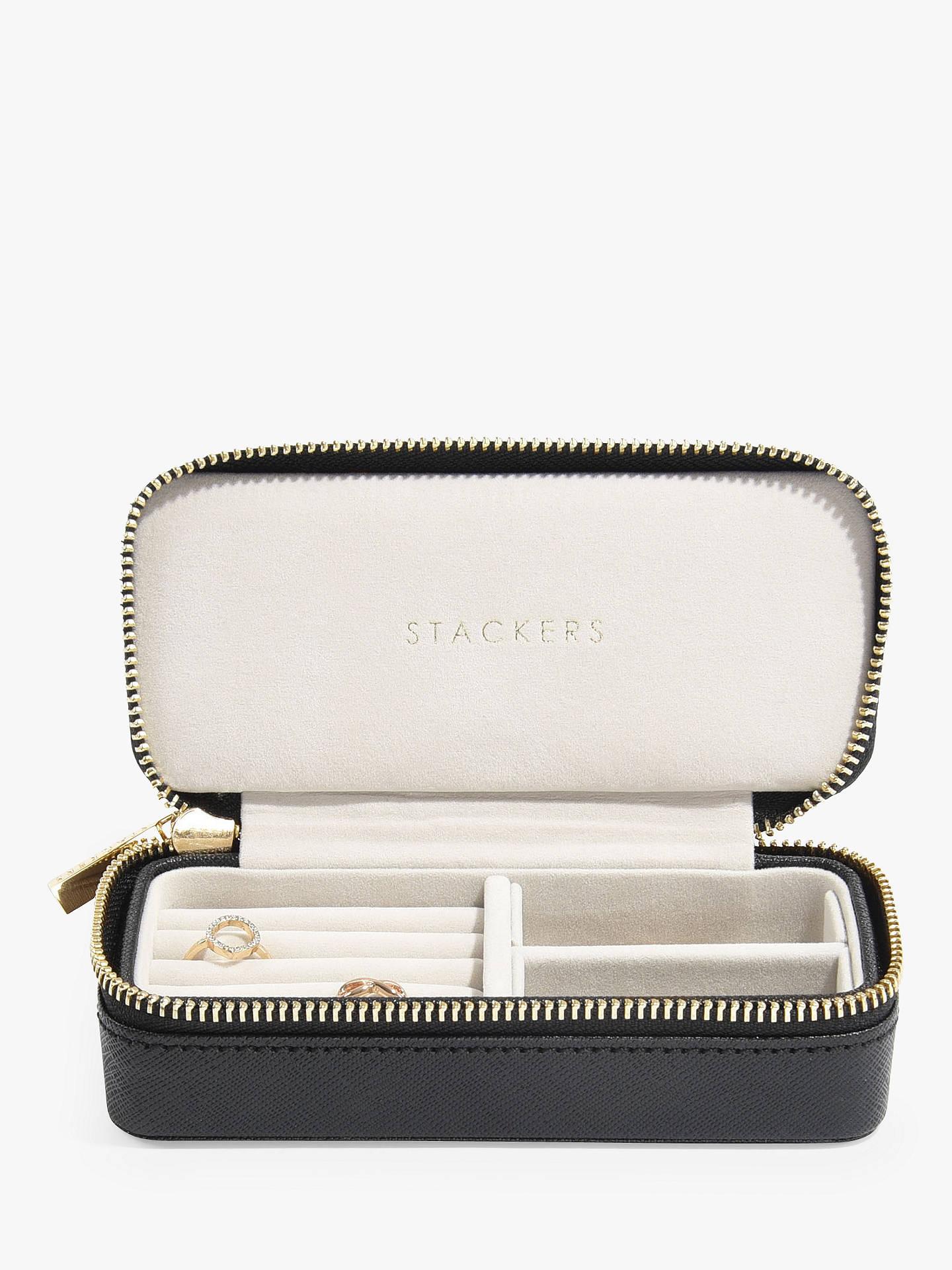 Stackers Overnight Travel Jewellery Box Black