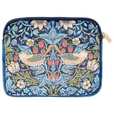 Morris & Co Velvet Coin Purse, Blue