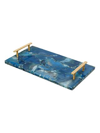 John Lewis Partners Agate Tray Blue Br