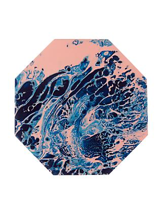 John Lewis & Partners Marbled Resin Coasters, Multi, Set of 4