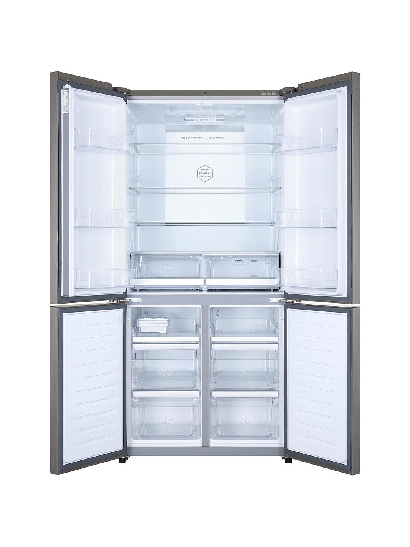 Купете Haier HTF-610DM7 хладилник с фризер за американски стил, енергийна оценка A ++, 90 cm широк, сребърен онлайн на johnlewis.com