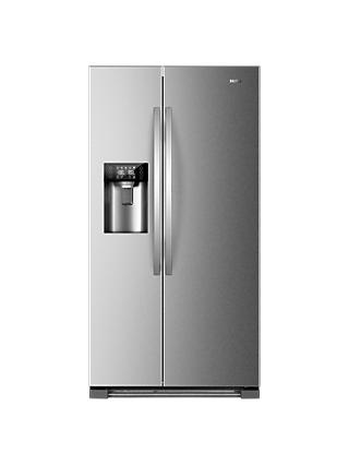 Haier HRF-630IM7 American-Style Freestanding Fridge Freezer with Water & Ice Dispenser, A++ Energy Rating, 91cm Wide, Stainless Steel