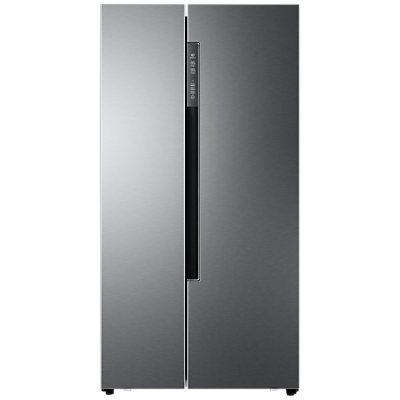 Haier HRF-522DG6 American-Style Freestanding Fridge Freezer, A+ Energy Rating, 90cm Wide, Silver