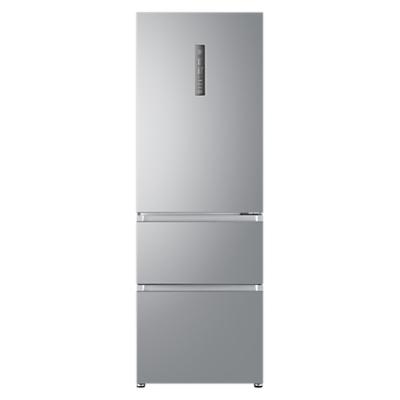 Haier A3FE632CSJ Freestanding 3-Door Fridge Freezer, A+ Energy Rating, 60cm Wide, Silver