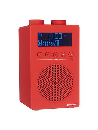 John Lewis & Partners Spectrum Solo Portable DAB+/FM Digital Radio