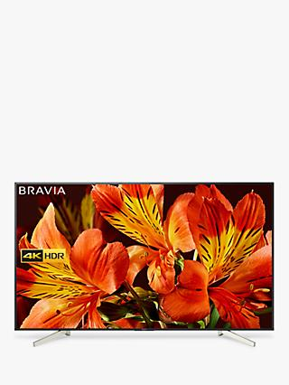 "Sony Bravia KD85XF8596 LED HDR 4K Ultra HD Smart Android TV, 85"" with Freeview HD & Youview, Black"