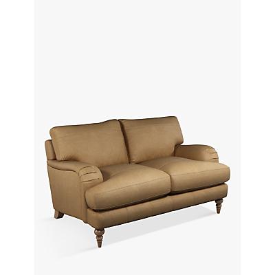 John Lewis & Partners Otley Small 2 Seater Leather Sofa, Dark Leg